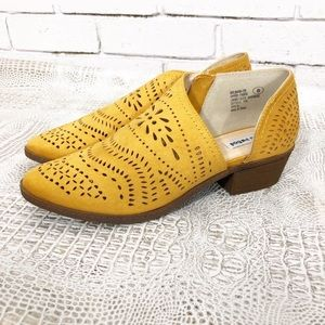 ModCloth | Not Rated mustard d'orsay bootie